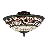 Elk Lighting English Ivy 582933-TB9 8 3 Light Semi Flush Mount, Tiffany Bronze