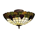 Elk Lighting Grapevine 582931-VA9 8 3 Light Semi Flush Mount, Vintage Antique