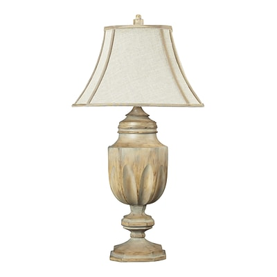 Dimond Lighting Lone Oak 58293-92439 37 Incandescent Table Lamp, Bleached Wood
