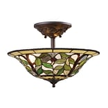 Elk Lighting Latham 58208015-TBH9 15 3 Light Semi Flush Mount, Tiffany Bronze