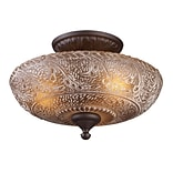 Elk Lighting Norwich 58266191-39 10 3 Light Semi Flush Mount, Oiled Bronze