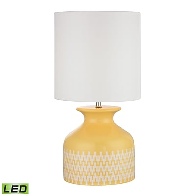 Dimond Lighting Carnforth 582D2503-LED9 20 Table Lamp, Sunshine Yellow/Extended Chevron