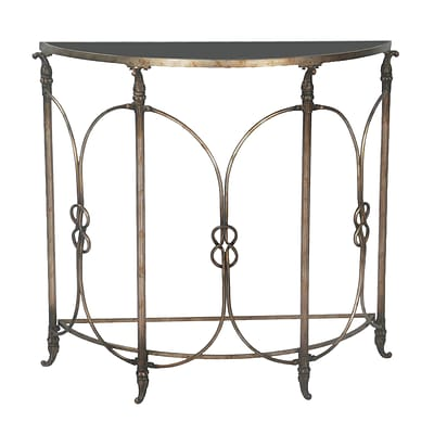 Sterling Industries 58251-11869 35 Half Circle Console Table; Distressed Bronze