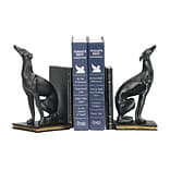 Sterling Industries 5824-830329 Set of 2 Greyhound Decorative Bookends, Black/Gold