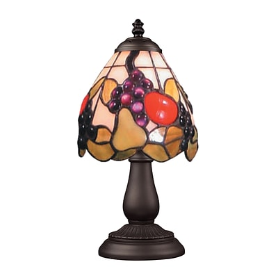Elk Lighting/Landmark Lighting Mix &Match 582080-TB-199 13 Incandescent Table Lamp; Tiffany Bronze