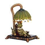 Sterling Industries Sleeping King Frog 58291-7409 12 Decorative Table Lamp, Greenwich