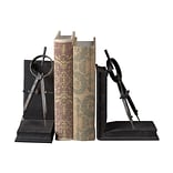 Sterling Industries 58251-100029 Set of 2 Compass Decorative Bookends, Rusted Black