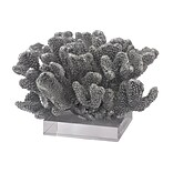 Sterling Industries 582112-11579 7 Coral On Acrylic Base Sculpture, Silver Leaf