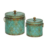 Sterling Industries 58251-30269 Blue Metal Box; Set of 2