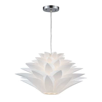 Sterling Industries Inshes 582143-0019 11 1 Light Mini Pendant, White