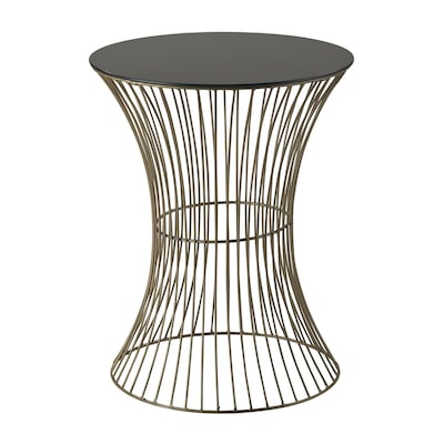 "Sterling Industries 582137-0219 20"" Round Side Table, Stagefort Gold"