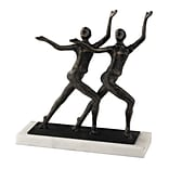 Sterling Industries 582148-0169 9 Chorus Line Sculpture, Bronze/White