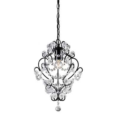 Elk Lighting 582122-0059 20 1 Light Clear Crystal Pendant, Black