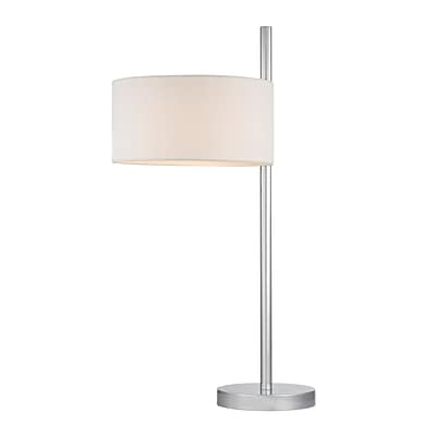 Dimond Lighting Attwood 582D24729 25 Incandescent Table Lamp; Polished Nickel