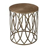 Sterling Industries 582138-0099 20 Round Side Table; Grampian Gold