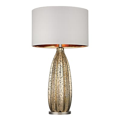 Dimond Lighting Pennistone 31 Incandescent Table Lamp; Antique Gold Mercury W/ Polshd Nickel