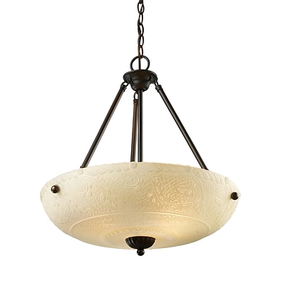 Elk Lighting Restoration 58266322-49 24 4 Light Pendant, Aged Bronze