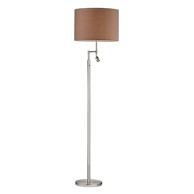 Dimond Lighting Beaufort 582D25529 60 Incandescent Floor Lamp, Satin Nickel