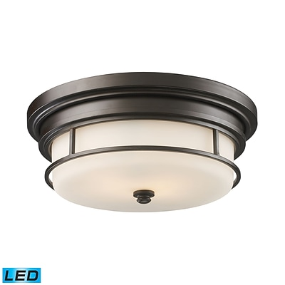 Elk Lighting Newfield 58266254-2-LED9 5 2 Light Flush Mount, Oiled Bronze