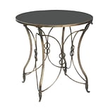 Sterling Industries 58251-11889 30.25 Round Accent Table; Distressed Bronze
