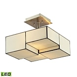 Elk Lighting Cubist 58272061-2-LED9 11 2 Light Semi Flush Mount, Brushed Nickel