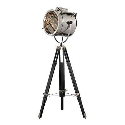 Dimond Lighting Curzon 582D21269 67 Incandescent Tripod Floor Lamp, Chrome/Black