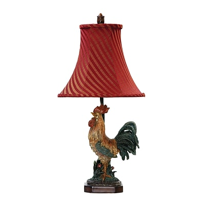 Dimond Lighting Crowning Rooster 58291-3449 24 Incandescent Table Lamp; Barnyard