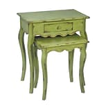 Sterling Industries 58251-00219 Set of 2 Rectangle Stacking Table; Verde Green