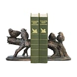 Sterling Industries 58291-37999 Set of 2 Continuing Branch Decorative Bookends, Black/Gold