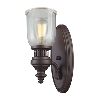Elk Lighting Chadwick 58266760-19 15 x 7 1 Light Wall Sconce, Oiled Bronze