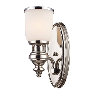 Elk Lighting Chadwick 58266110-19 13 x 5 1 Light Wall Sconce, Polished Nickel