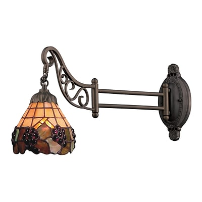 Elk Lighting Mix-N-Match 582079-TB-079 12 x 7 1 Light Swingarm Sconce, Tiffany Bronze
