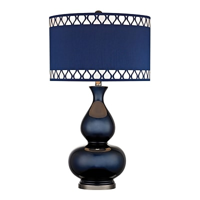 Dimond Lighting Heathfield 582D25169 28 Incandescent Table Lamp; Navy Blue with Black Nickel