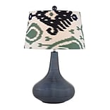 Dimond Lighting Penarth 582D25209 26 Incandescent Table Lamp; Navy Blue