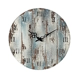 Sterling Industries 582128-10089 Restoration Wooden Wall Clock, Blue/Ivory Face