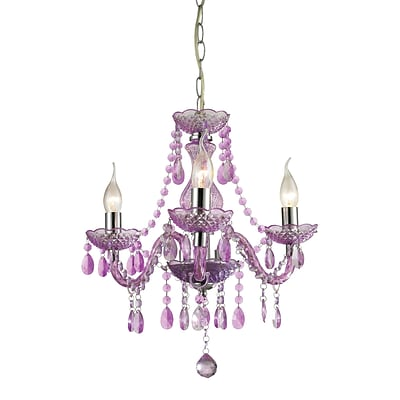 Sterling Industries Theatre 582144-0139 18 3 Light Chandelier, Chrome