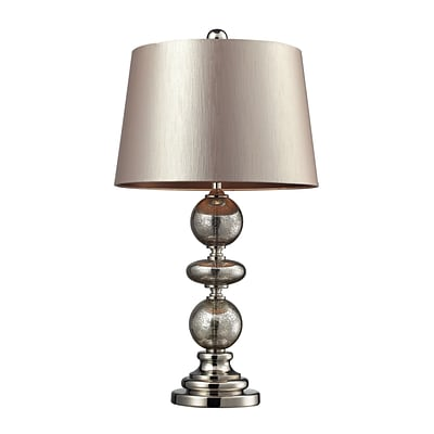 Dimond Lighting Hollis 582D22279 29 Incandescent Table Lamp; Antique Mercury Glass/Polished Nickel