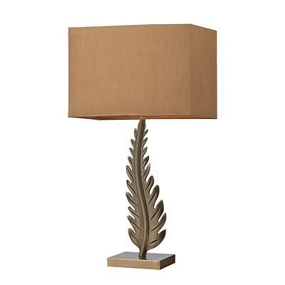 Dimond Lighting Oak Cliff 582D26849 27 Incandescent Table Lamp; Aged Brass