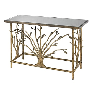 Sterling Industries 582114-959 31 Rectangle Console Table; Bakewell Gold