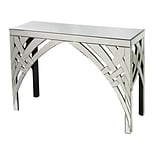 Sterling Industries 582114-649 32 Rectangle Arched Ribbons Console Table; Clear