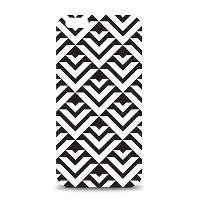 OTM iPhone 6 White Glossy Case Black/White Collection, Arrows