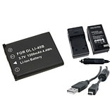 Insten® 314745 4-Piece DV Battery Bundle For Olympus Li-40B/Li-42B/Nikon EN-EL10/Fuji NP-45