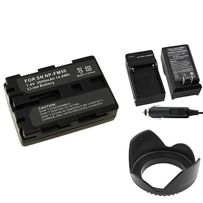 Insten® 314932 4-Piece DV Battery Bundle For Sony NP-FM50/NP-FM30/Sony NP-FM500H/58mm Lens/Filters