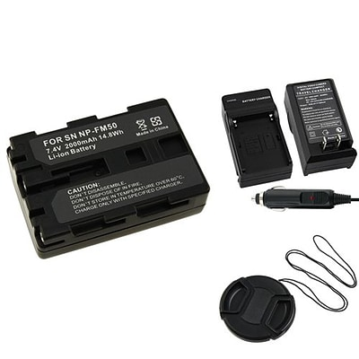 Insten® 314968 3-Piece DV Battery Bundle For Sony NP-FM50/NP-FM30/Sony NP-FM500H/58 mm Filters/Lens