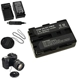 Insten® 315006 5-Piece DV Battery Bundle For Sony NP-FM50/NP-FM30/Sony NP-FM500H/58 mm Filters
