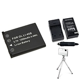 Insten® 361155 3-Piece DV Battery Bundle For Olympus Li-40B/Li-42B/Nikon EN-EL10/Fuji NP-45