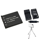 Insten® 361156 4-Piece DV Battery Bundle For Olympus Li-40B/Li-42B/Nikon EN-EL10/Fuji NP-45
