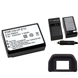 Insten® 369868 3-Piece DV Battery Bundle For Eos Rebel T3/Canon LP-E10