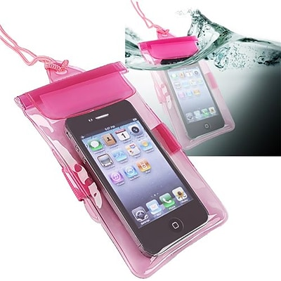 Insten® PVC Waterproof Bag Case For Cell Phone/PDA, Hot Pink