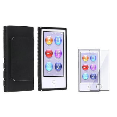 Insten® 857287 2-Piece MP3 Screen Protector Bundle For Apple iPod Nano 7th Gen